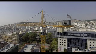 Aerial video promo clip of construction project.