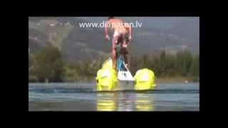 Pedal boat, waterbike, водный велосипед, катамаран(For more info please contact: info@diapason.lv; + 371 29249422; www.diapason.lv Latvia., 2014-03-10T17:49:25.000Z)