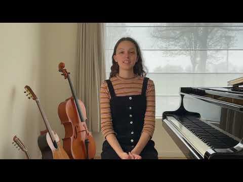 Jong Talent - Young Talent 2021: Chloé Bakeroot (violin/piano)