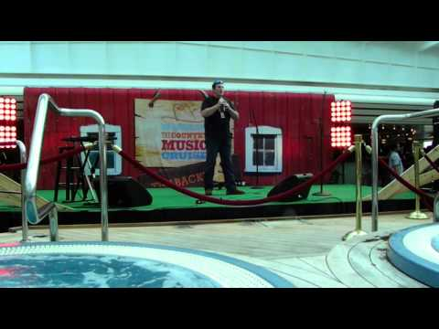 Chris Keefe in singing finals on Country Music Cruise