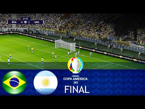 BRAZIL vs ARGENTINA - FINAL COPA AMERICA 2021 - Full Match All Goals HD - PES 2021 Gameplay PC