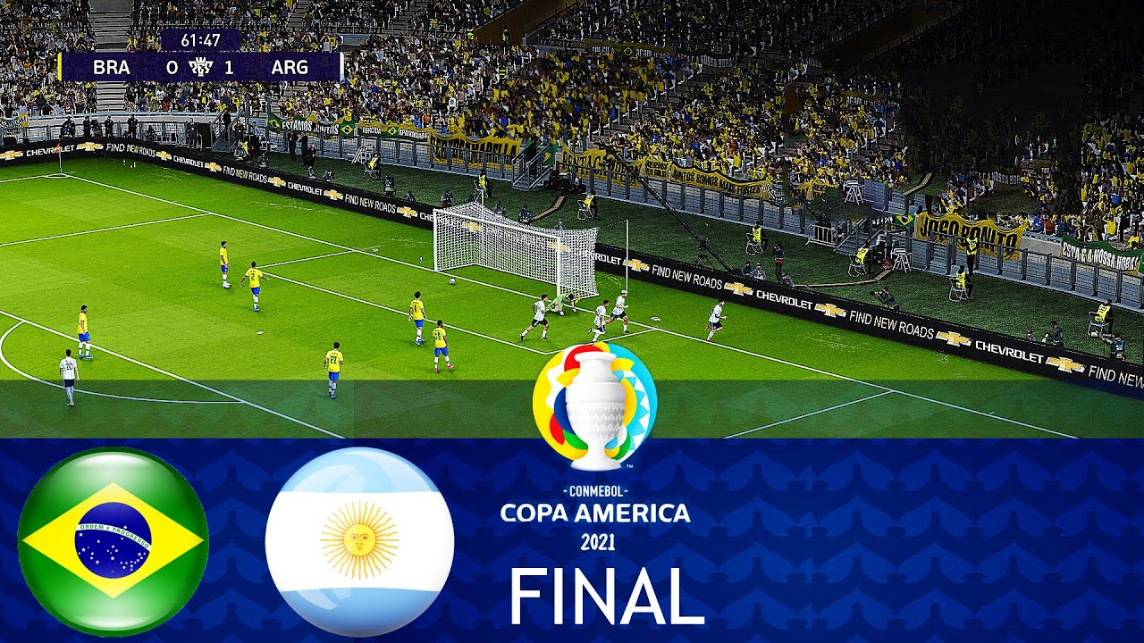 Download BRAZIL vs ARGENTINA - FINAL COPA AMERICA 2021 - Full Match All Goals HD - PES 2021 Gameplay PC