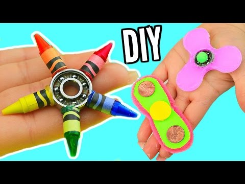 Thumbnail: DIY FIDGET SPINNERS! 3 Ways To Make A Fidget Spinner Toy!
