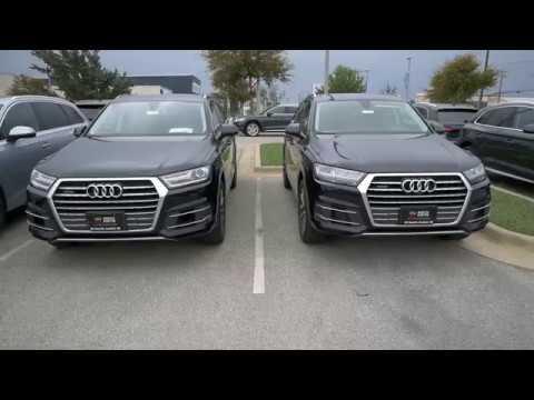 Audi Q8 Schwarz >> 2018 Audi Q7 - Night Black vs Orca Black metallic - YouTube