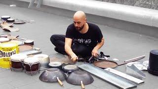 Dario Rossi - Great techno house street drummer