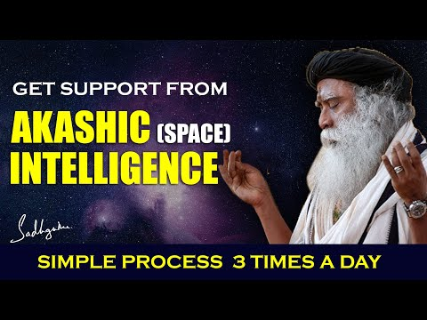 Tapping Into The Akashic (Space) Intelligence   Simple Process 3 Times A Day   Sadhguru