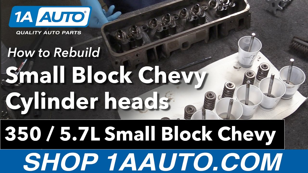 How To Rebuild Small Block Chevy 350 57l Cylinder Heads Youtube Engine Head Diagram