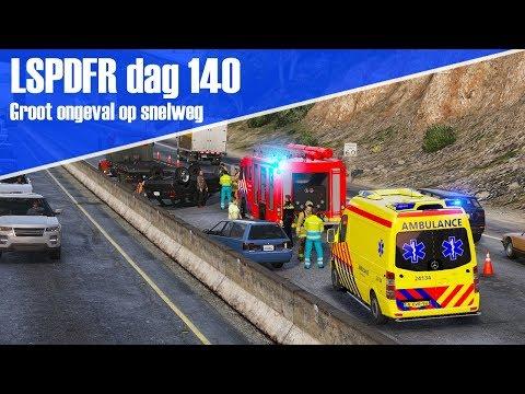 GTA 5 lspdfr dag 140 - Motor dienst. Ongeval op snelweg!