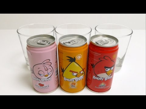 Angry Birds NEW Soft Drinks - Special Thai Edition
