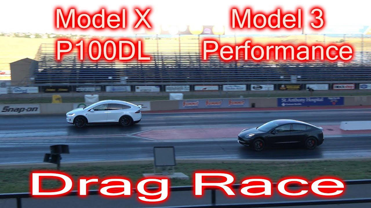 tesla model x p100dl vs tesla model 3 performance drag race youtube. Black Bedroom Furniture Sets. Home Design Ideas