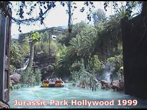 Jurassic Park The Ride River Adventures Universal Studios Hollywood 1999