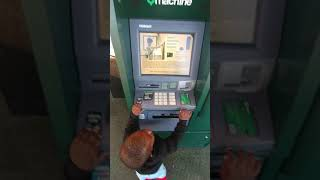 1 year old using using Td bank atm