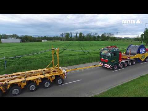 157 Tonnen vollverschlossenes Tragseil für die neue Seilbahn Zugspitze on the road