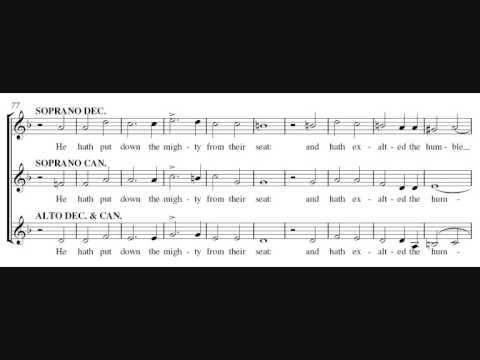 Magnificat in D minor - Walmisley