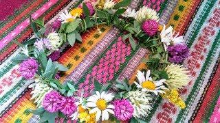 як зробити вінок з живих квітів