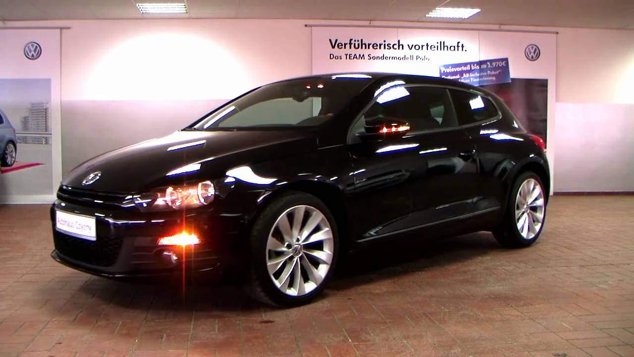volkswagen scirocco 1 4 tsi team plus 2010 deep black. Black Bedroom Furniture Sets. Home Design Ideas