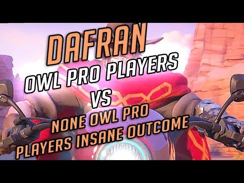 OVERWATCH LEAGUE PRO PLAYERS VS NONE OVERWATCH LEAGUE PRO PLAYERS INSANE OUTCOME !! thumbnail