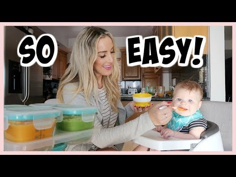 HOW I MAKE MY OWN BABY FOOD! | HOMEMADE BABY PUREES | OLIVIA ZAPO