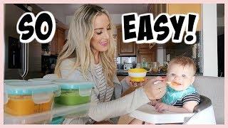 HOW I MAKE MY OWN BABY FOOD!   HOMEMADE BABY PUREES   OLIVIA ZAPO