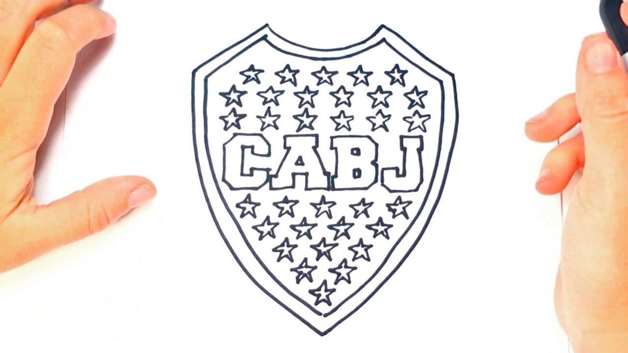 Como dibujar un Escudo de Boca Juniors paso a paso - YouTube