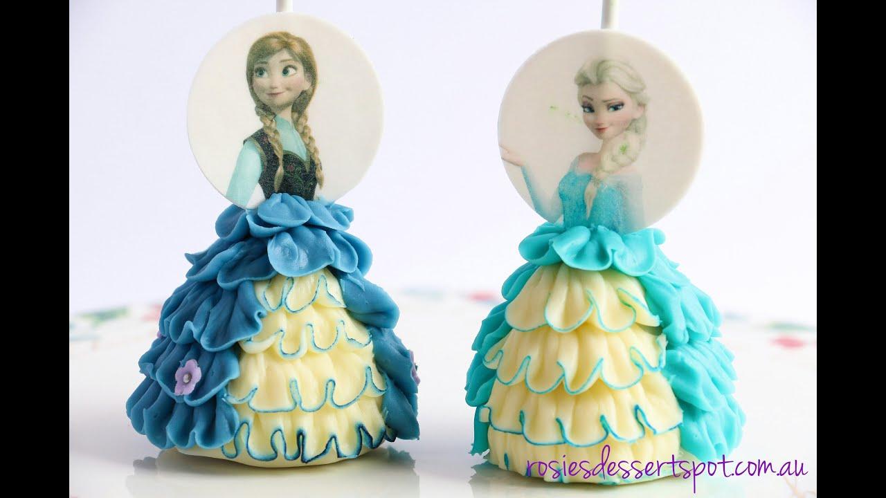 How To Make Frozen Cake Pops Princess Cake Pop Dress