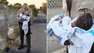 newborn baby found buried alive under asphalt and rubble by a los angeles river