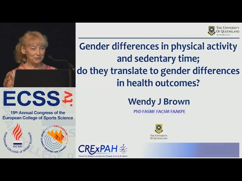 Gender differences in physical activity and sedentary time - Prof. Brown