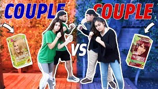 COUPLE VS COUPLE CHALLENGE (loser dyes their hair)