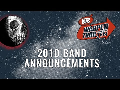 2010 Warped Tour: Band Announcements!