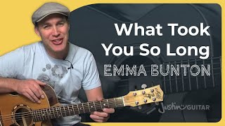 How to play What Took You So Long by Emma Bunton (Easy Song Guitar Lesson SB-210)