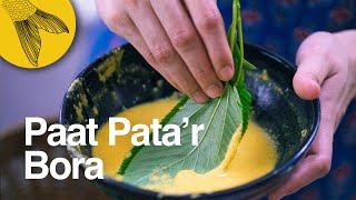 Paat pata'r bora—jute leaf fritter recipe—monsoon special | Bengali vegetarian recipe