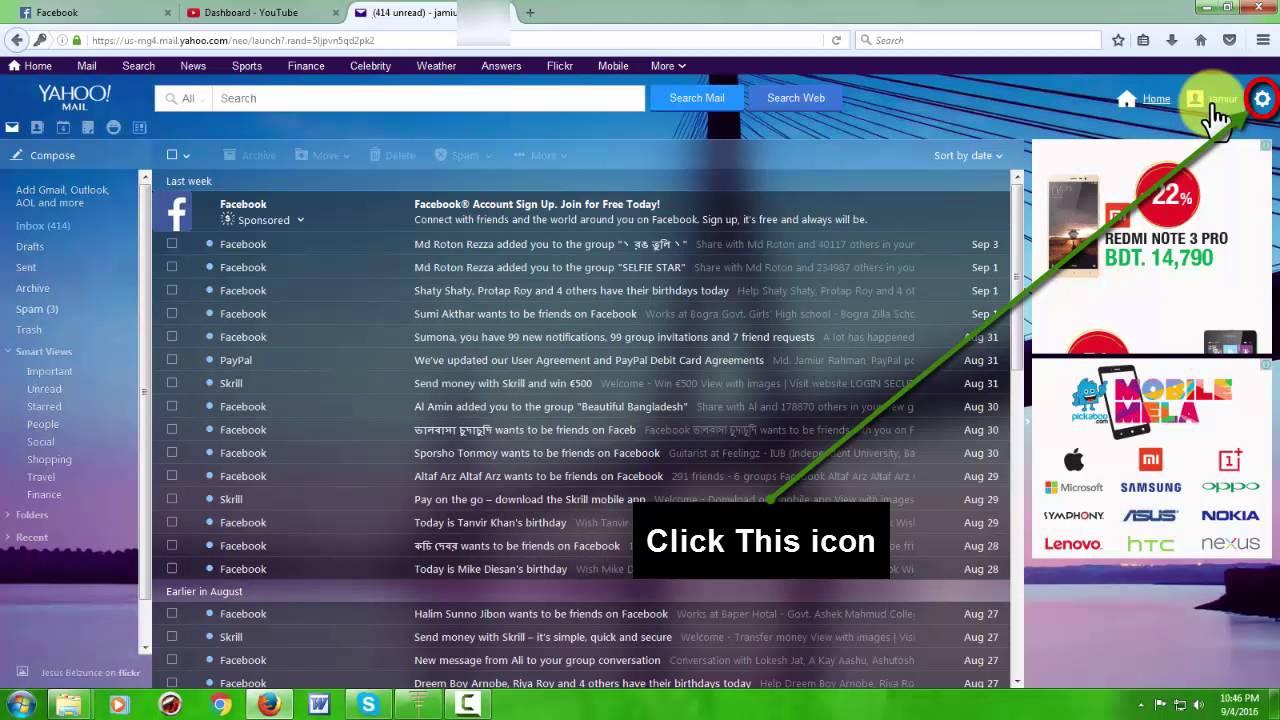 Background image yahoo mail - How To Change Yahoo Mail Theme