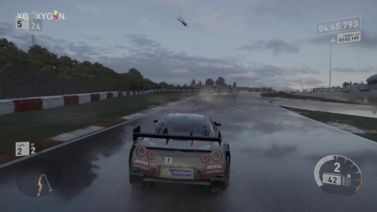 forza motorsport 7 xbox one x dynamic weather gameplay