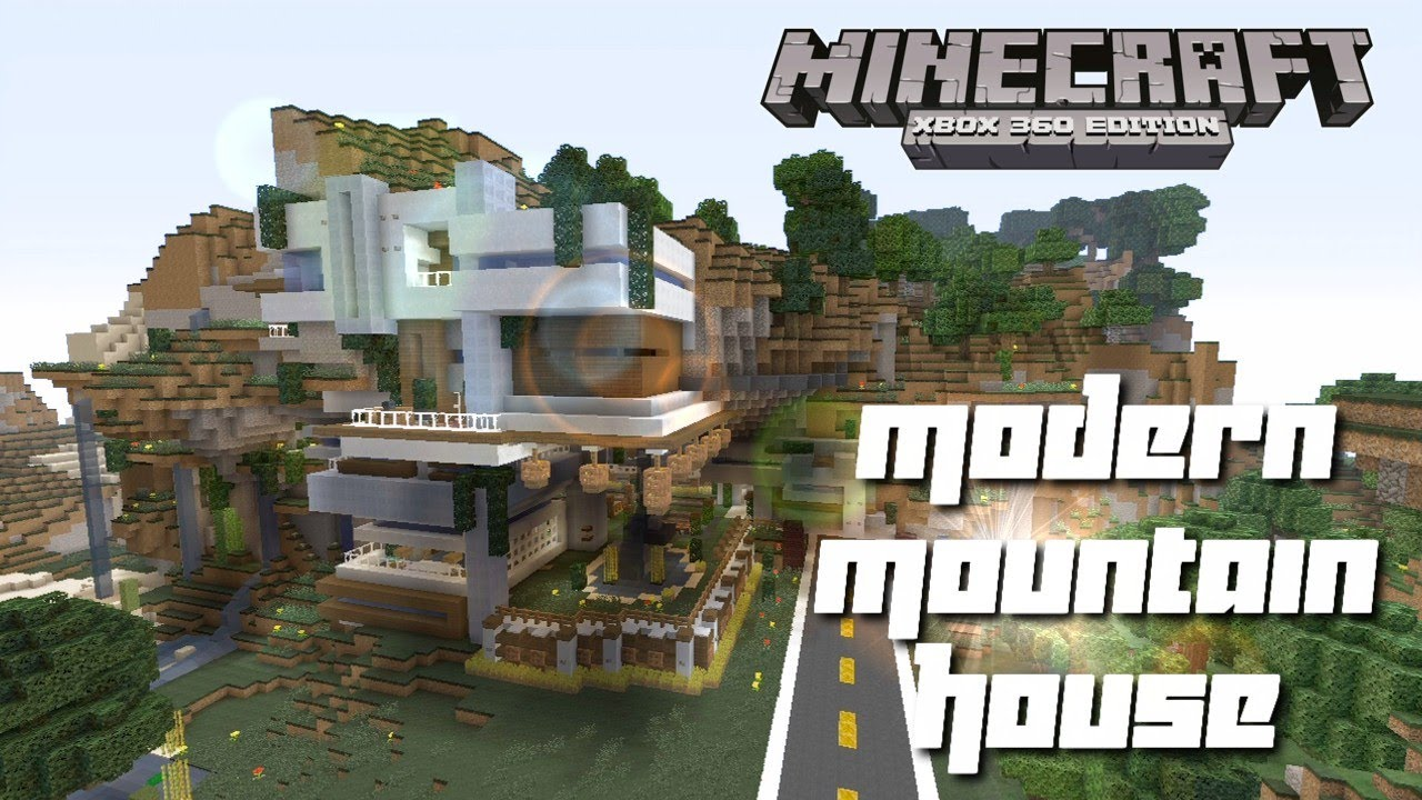 Minecraft Xbox 360 Cool Modern Mountain House Tour YouTube