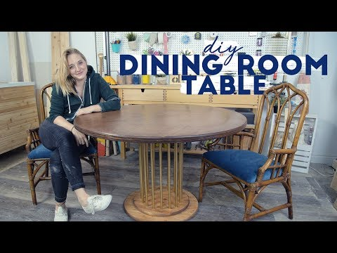 DIY Dining Room Table and Upcycled Chairs