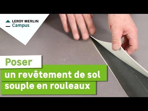 Comment poser un revetement de sol souple en rouleaux ? Leroy Merlin