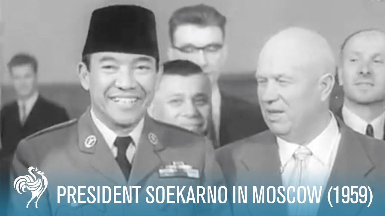 President Soekarno Of Indonesia In Moscow 1959 British Pathe Youtube