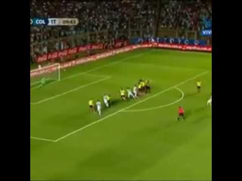 Argentina Vs colombia 1st goal by messi
