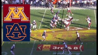Auburn vs Minnesota Football Bowl Game 1 1 2020