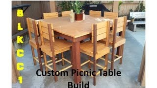 Custom DIY Picnic Table