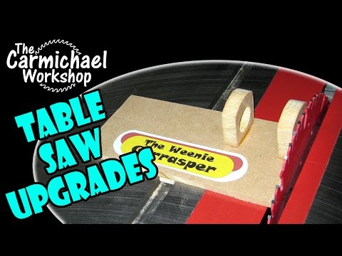 Craftsman Contractor Table Saw Upgrades & SawStop Hot Dog Test Parody