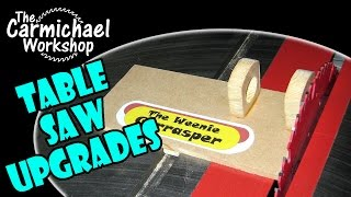 Easy Diy Table Saw Upgrades & Hot Dog Test Parody