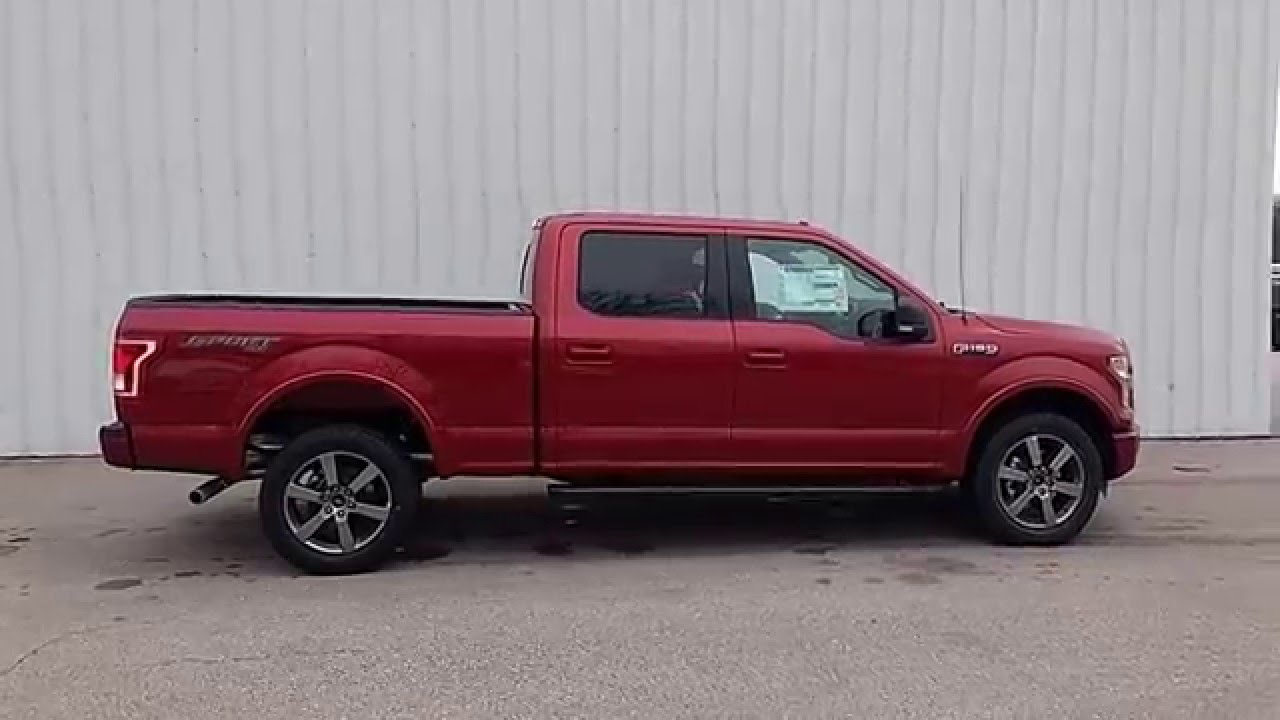 ruby red 2016 f 150 supercrew 4x4 xlt sport 5 0l v8 302a 6 5 39 bed 36 gallon youtube. Black Bedroom Furniture Sets. Home Design Ideas