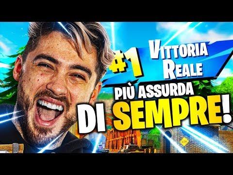 VITTORIA REALE con il FINALE PIÙ ASSURDO DI SEMPRE!   FORTNITE ITA