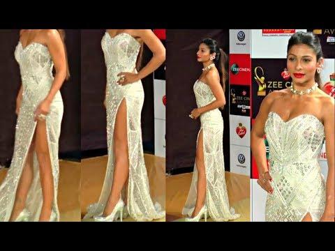Masala Actress Tanisha Mukherjee Strapless Dress thumbnail
