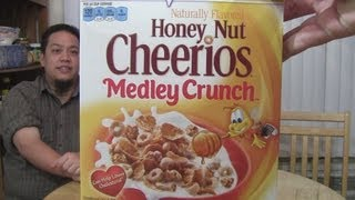 Cerealous Business - Honey Nut Cheerios Medley Crunch This is no normal cereal show......this is cerealous business! On this show we review weird and rare cereals! On today's show Jeff Fu, Laurie, & Matt Zion review ...