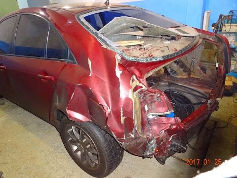 Nissan Primera. удар в жопу. Будущий РАСПИЛ!!!