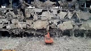 Обрушение здания. Двор БЦ Стандарт, Воронеж.