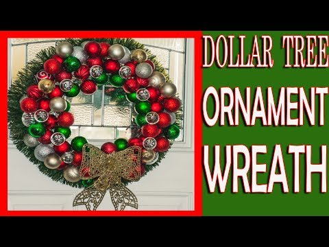 DIY Dollar Store Christmas Ornament Wreath🎄 12 Days of Christmas DIY Projects