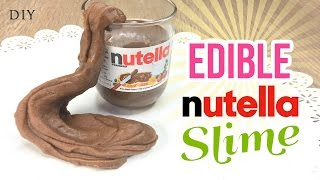Make EDIBLE Nutella Slime!!! Delicious & Easy DIY Slime/Playdough Recipe with Just 3 Ingredients!